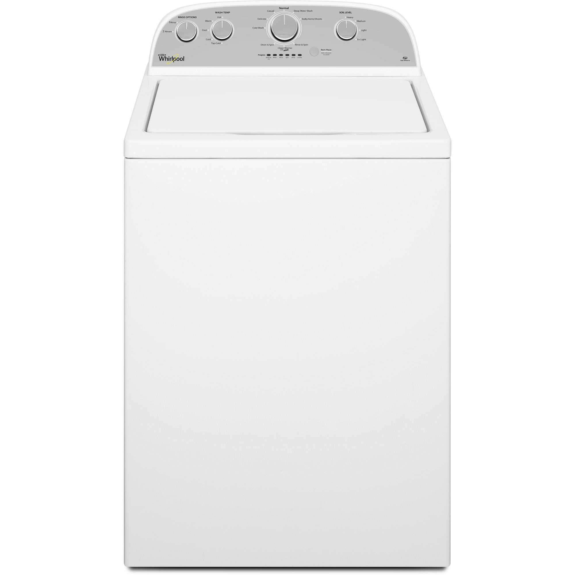 WHIRLPOOL� 3.5 CU. FT TOP LOAD WASHING MACHINE, WHITE, 9 WASH CYCLES