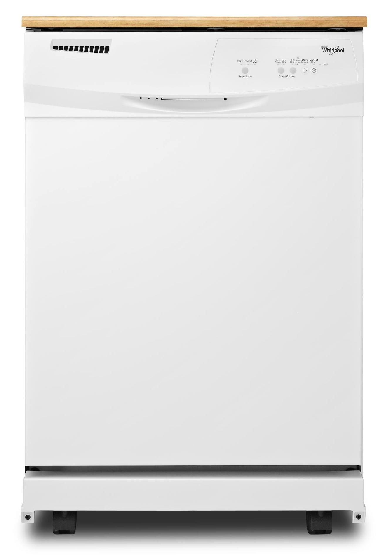 WHIRLPOOL� PORTABLE 24 IN. DISHWASHER WITH ELECTRONIC CONTROLS, WHITE, 3 CYCLES / 4 OPTIONS