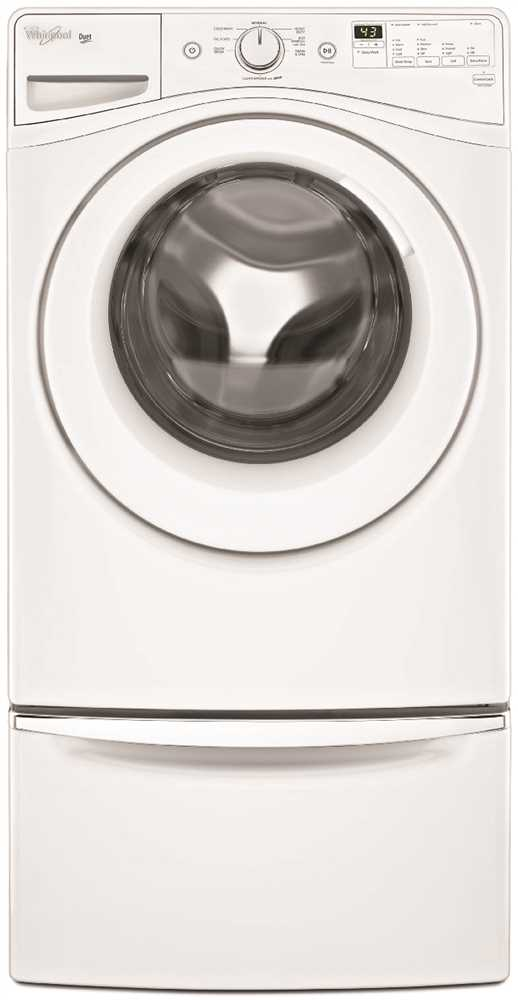 WHIRLPOOL� DUET� 4.2 CU. FT. HIGH EFFICIENCY FRONT LOAD WASHING MACHINE, WHITE, 8 WASH CYCLES