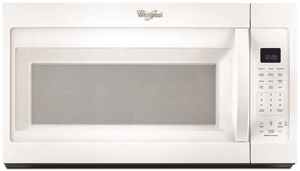 WHIRLPOOL� 1.9 CU. FT. OVER-THE-RANGE, COMBINATION MICROWAVE OVEN, WHITE, 1000 W