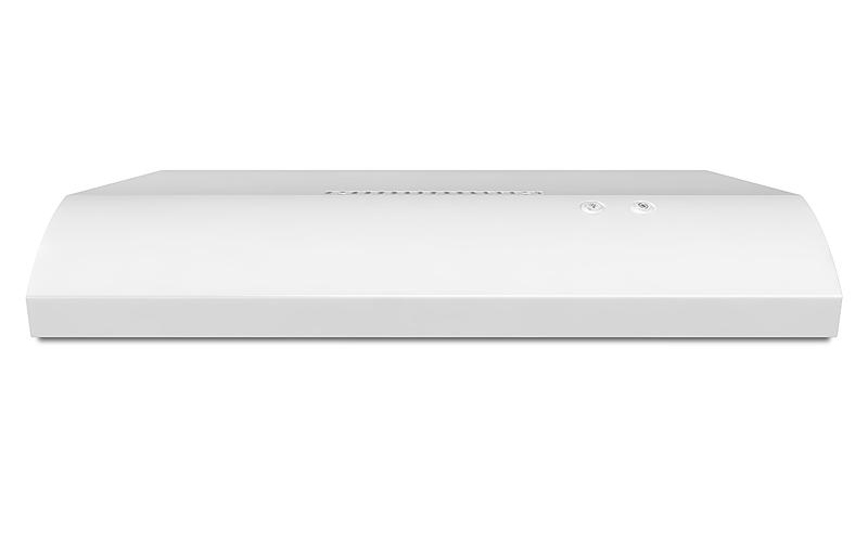 WHIRLPOOL� 2-SPEED NON-VENTED, BUILT-IN HOOD AND VENT, WHITE, 120 V