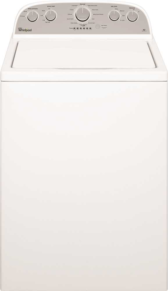 WHIRLPOOL� 3.7 CU. FT. TOP LOAD WASHING MACHINE WITH ENERGY STAR� QUALIFICATION, WHITE