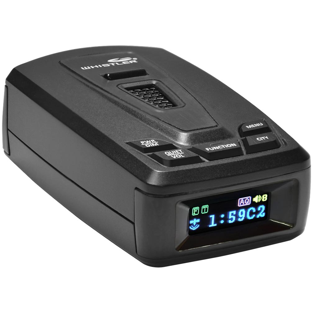 Whistler Elite Series Radar Detector - 360° Maxx Coverage Full Color OLED Display Real Voice Alert