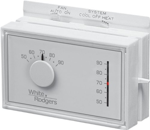 White-Rodgers™ Mercury-Free Universal Mechanical Thermostat, White