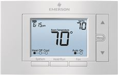 EMERSON� 80 SERIES� UNIVERSAL PROGRAMMABLE THERMOSTAT, 5 IN. DISPLAY, 2 HEAT / 2 COOL