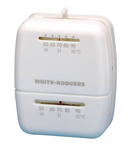 Rodgers Economy 24 Volt/Millivolt Heat Thermostat, White
