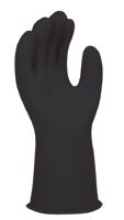 "W H Salisbury Size 10 Black 11"" Natural Rubber Class 0 Linesmens Gloves With Straight Cuff"