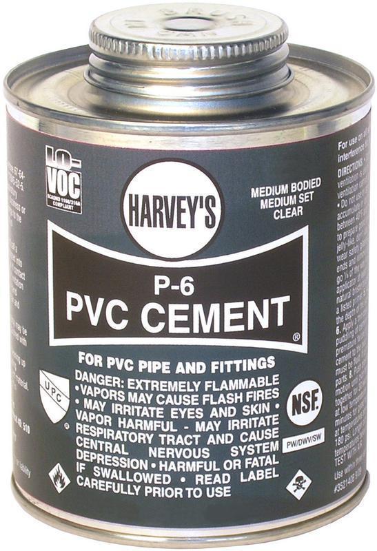 018160-24 1/2PT MED PVC CEMENT