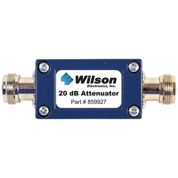 Wilson Electronics 859927 50ohm Cellular Signal Attenuator with N-Female Connectors (20dB)
