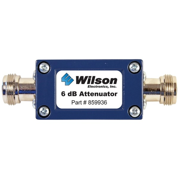 Wilson Electronics 859936 50ohm Cellular Signal Attenuator with N-Female Connectors (6dB)