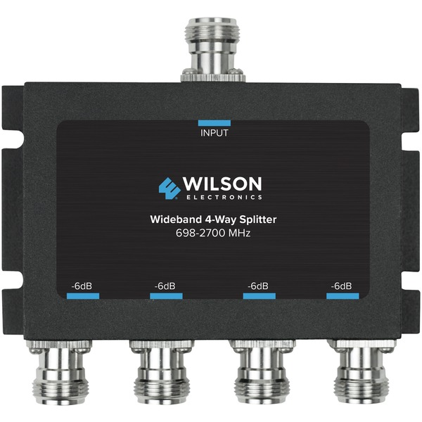 Wilson Electronics 859981 4-Way -6dB Cellular Signal Splitter with N-Female Connectors