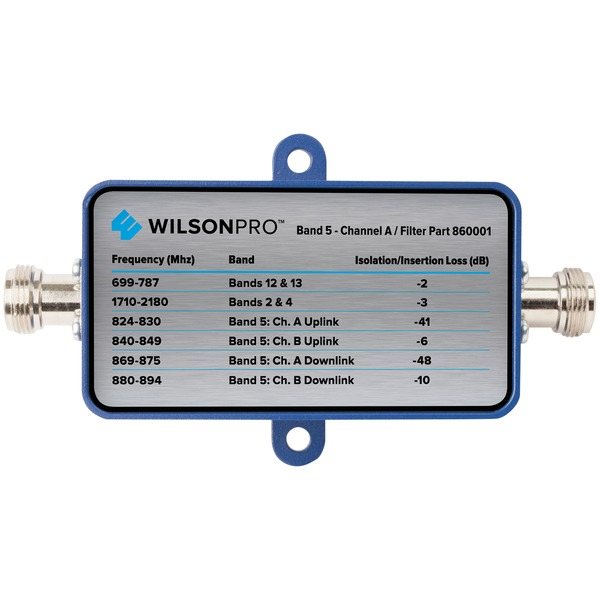 Wilson Electronics 860001 Band-5 Cellular Signal Filter (Channel A, F-Female Connector)