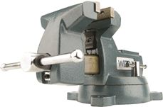 WILTON� 740 SERIES MECHANICS VISE, SWIVEL BASE, 6 IN. JAW WIDTH, 5-3/4 IN. JAW OPENING, 4-1/8 IN. THROAT DEPTH