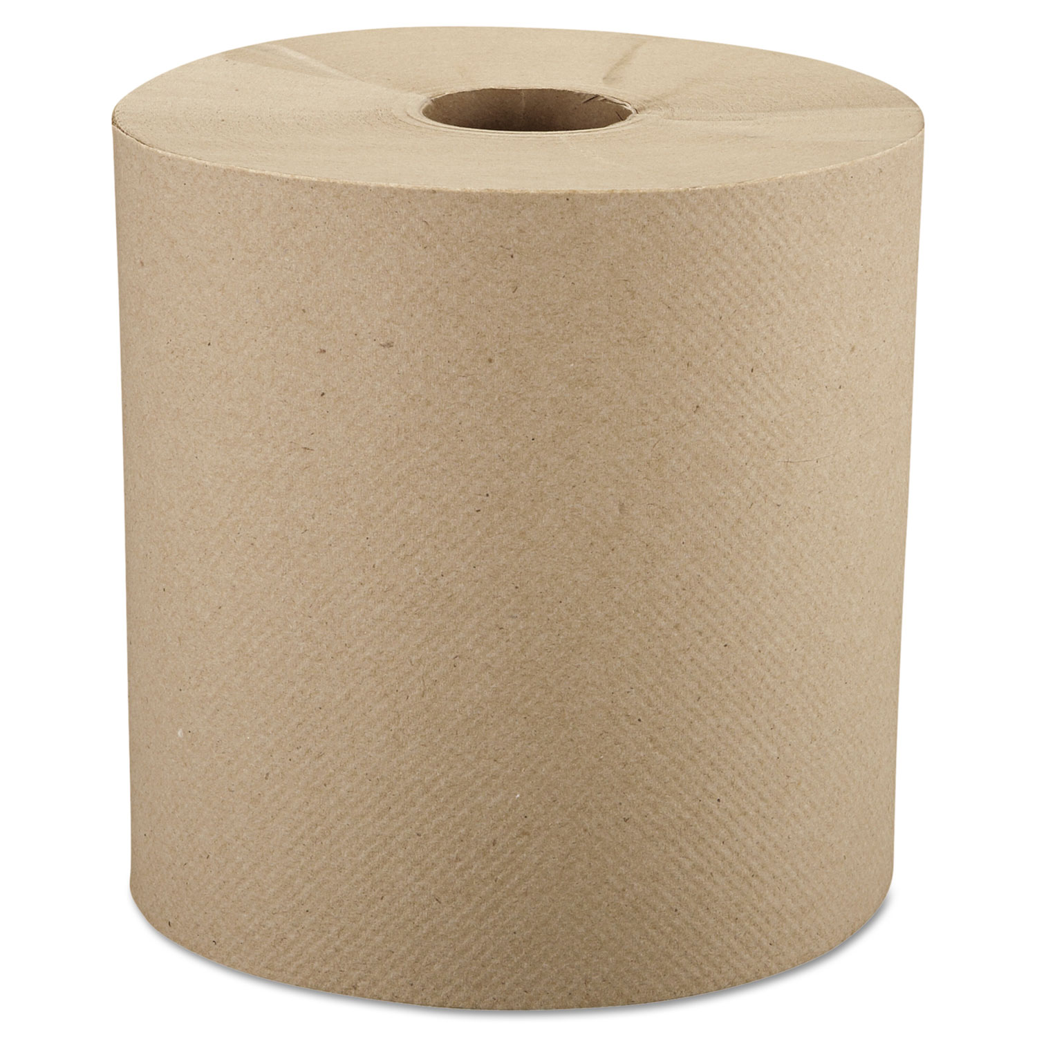 "Nonperforated Roll Towels, 8"" x 800ft, Brown, 6 Rolls/Carton"