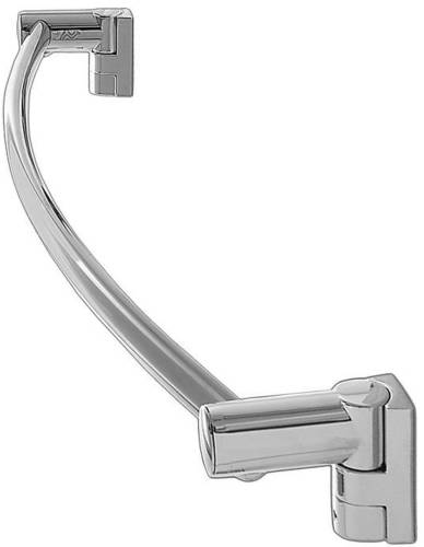 WINGITS OVAL TOWEL BAR, 18 IN., SATIN STAINLESS STEEL