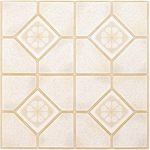 Winton Self-Adhesive Vinyl Floor Tile, 12X12 In., 1.1 mm, Almond/Sand