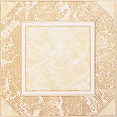 Winton Decorative Self-Adhesive Vinyl Floor Tile, 12X12 In., 1.1 mm, Beige