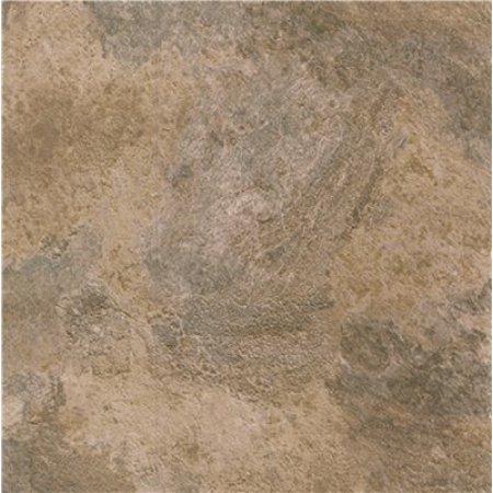 Winton Self-Adhesive Vinyl Floor Tile, 12X12 In., 1.1 mm, Natural Black And Tan Stone