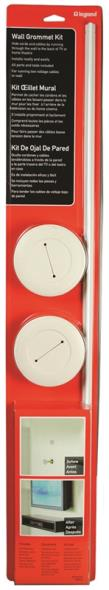 Wiremold CMK 60 Cord Organizers, Wall Grommet Kits, White