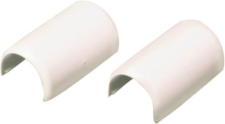 CordMate Legrand C19 Channel Coupling, 1 in, PVC, White