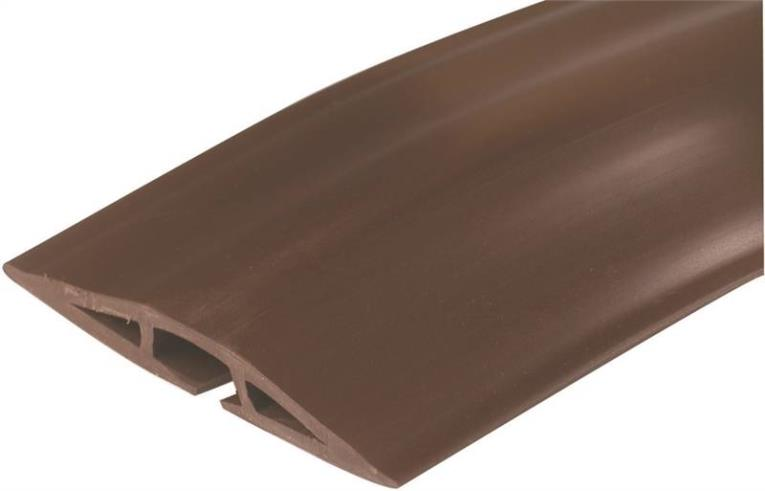 Legrand CDB-005 Overfloor Cord Protector, 5 ft L X 2-1/2 in W X 7/16 in T, Brown