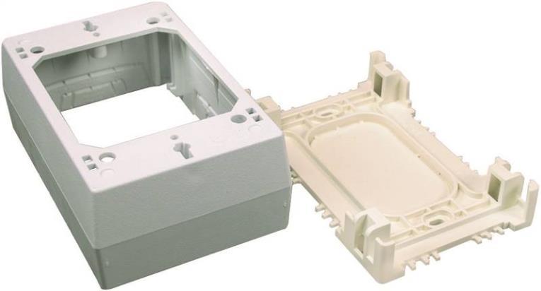 Legrand CordMate II C53 Datacom Box, 1 Gang, 4.8 in L x 4.8 in W x 1-3/4 in D