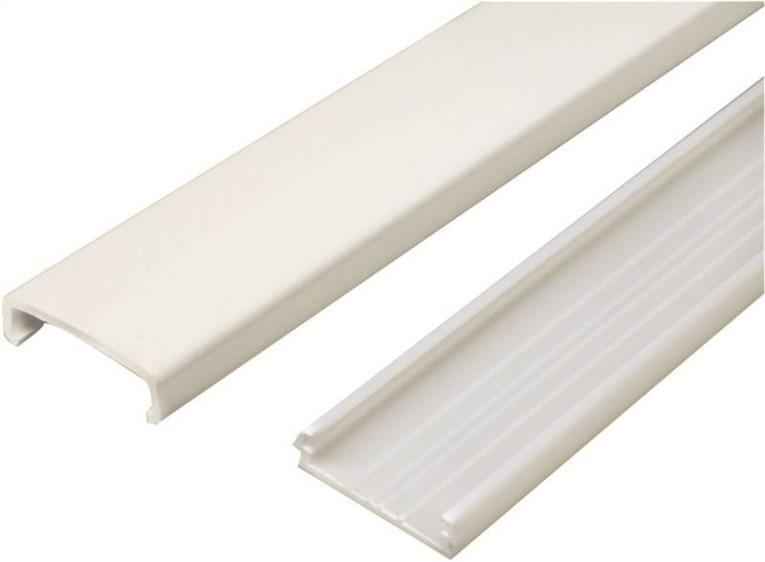 CHANNEL WIRE PLASTIC 5FT IVORY