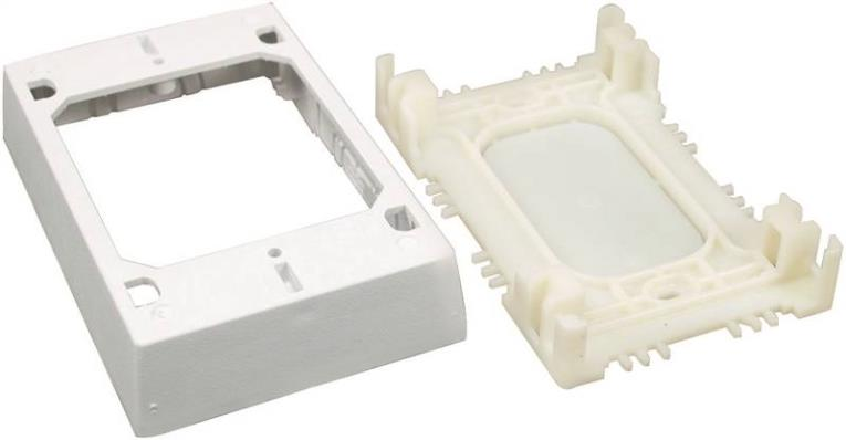 1IN WHITE STARTER/OUTLET BOX