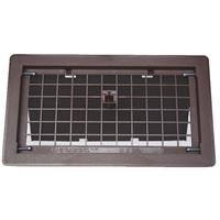 Bestvents 500BR Manual Foundation Vent with Damper, Brown