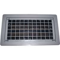 Bestvents 315CGR Automatic Replacement Foundation Vent, 8 X 16 in, Gray