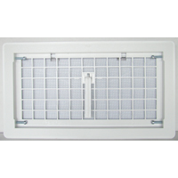 Bestvents 500WH Manual Foundation Vent with Damper, White