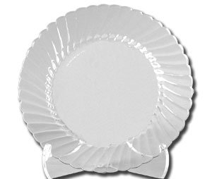 Classicware Plates, Plastic, 9 in, Clear, 18/Bag, 10 Bag/Carton