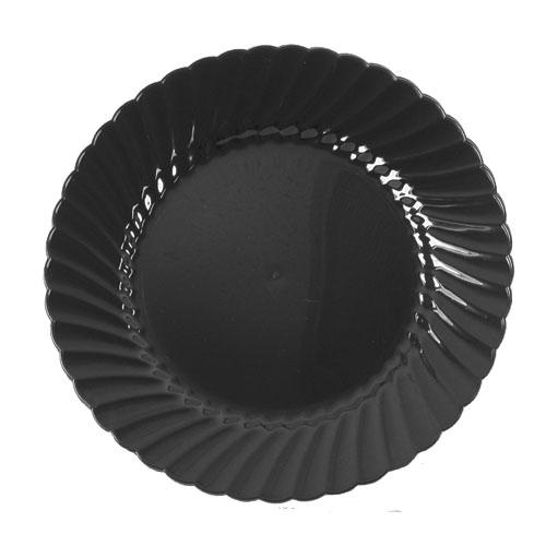 """6"""" Designerware Plastic Plates, Black, 180 Plates"""