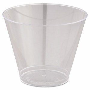 Comet Smooth Wall Tumblers, 9oz, Clear, Squat, 25/Pack, 20 Packs/Carton