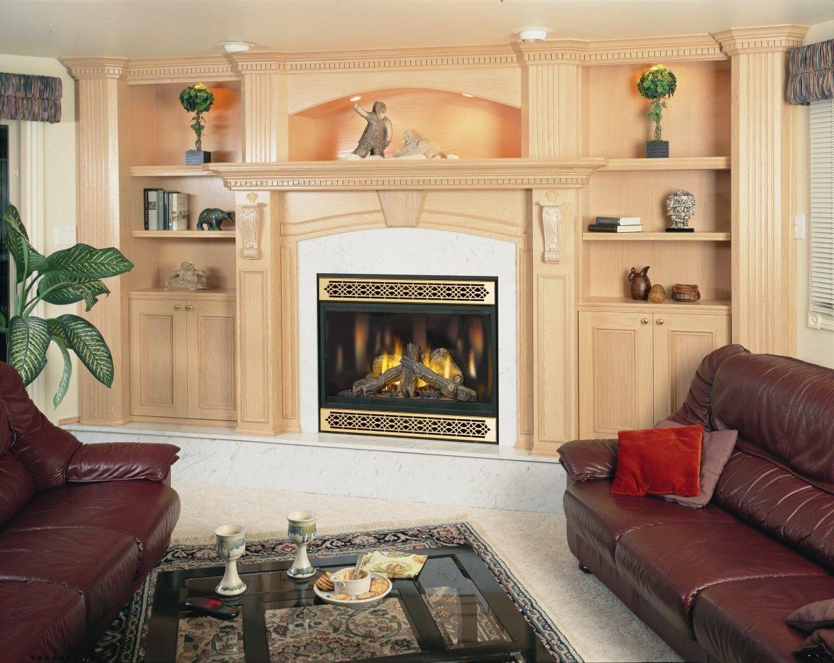 BGD42N-D Top Vent Fireplace W/ Black Door - Natural Gas
