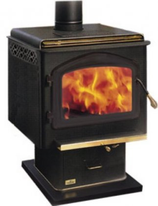 1400P Napoleon Medium Steel Wood Burning Pedestal Stove