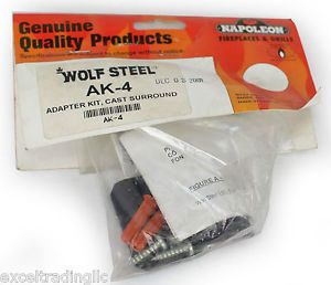 AK-4 Cast Iron Adaptor Kit, Required With Cast Iron Surrounds