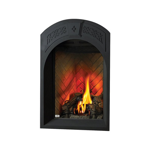 Afk82-1Sb Arched Facing Kit With Heritage Pattern With Safety Barrier, Painted Black