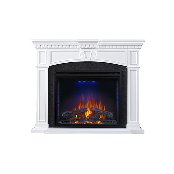 """Nefp33-0214W Taylor 33"""" Mantel Package, White Finish"""