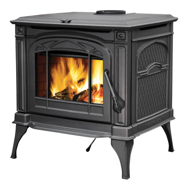 1400CN Napoleon Cast-Iron Wood Burning Stove, Painted Majolica Brown