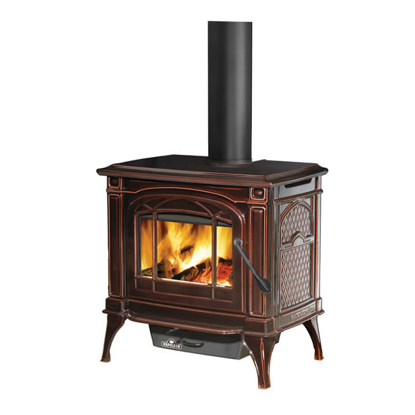 1100CN-1 Napoleon Cast-Iron Wood Burning Stove, Painted Majolica Brown