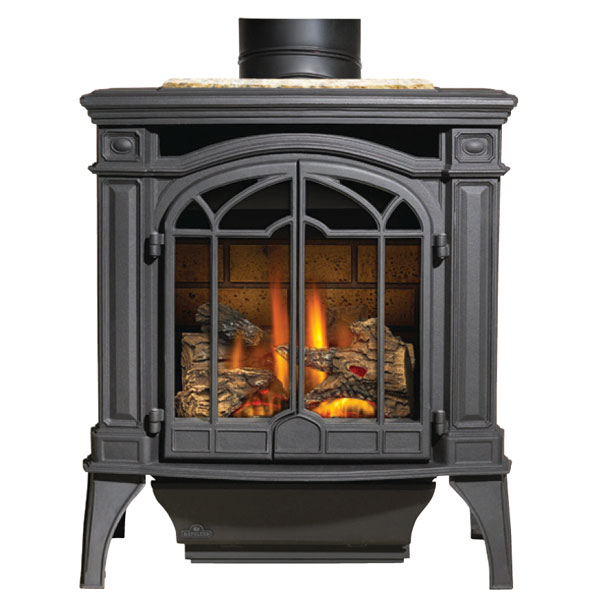 GDS25NSB Napoleon Cast-Iron Gas Stove, Black