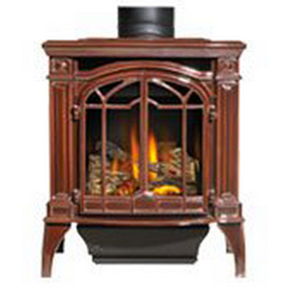 GDS25NNSB Napoleon Cast-Iron Gas Stove, Majolica Brown