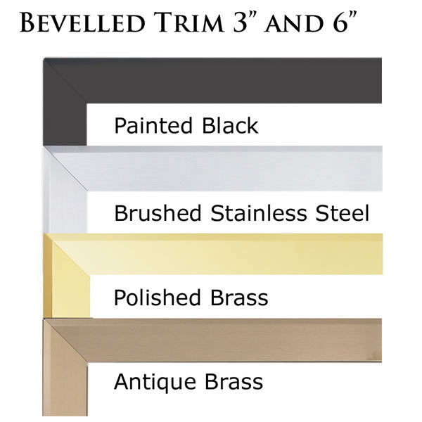 "TB636SS Beveled Trim Kit - 6"" Brushed Stainless Steel Finish (Covers Opening 44""W X 36""H)"