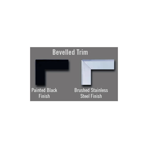 "TBHD40K Bevelled Trim Kit (Covers Opening 53""W X 41""H) - Painted Black"