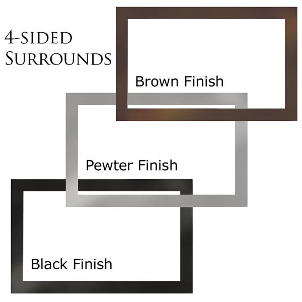 "GI-30N 4-Sided Surround (Covers Opening 25"" H X 42"" W), Brown"