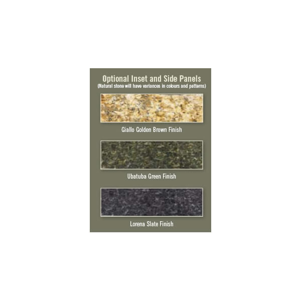 GS-331F Stove Top Inset Granite, Ubatuba Green