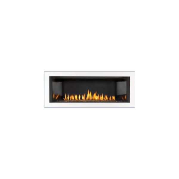 "LDS45W Deluxe 4-Sided Surround W/Safety Screen, Gloss Black, Covers Opening 46 1/2"" W X 19"" H"