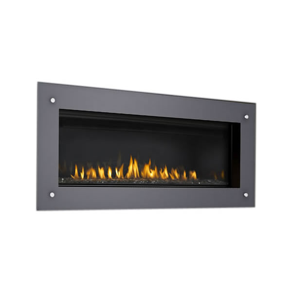 "LGFS45 Deluxe 4-Sided Surround W/Safety Screen, Gloss Black, Covers Opening 46 1/2"" W X 19"" H"