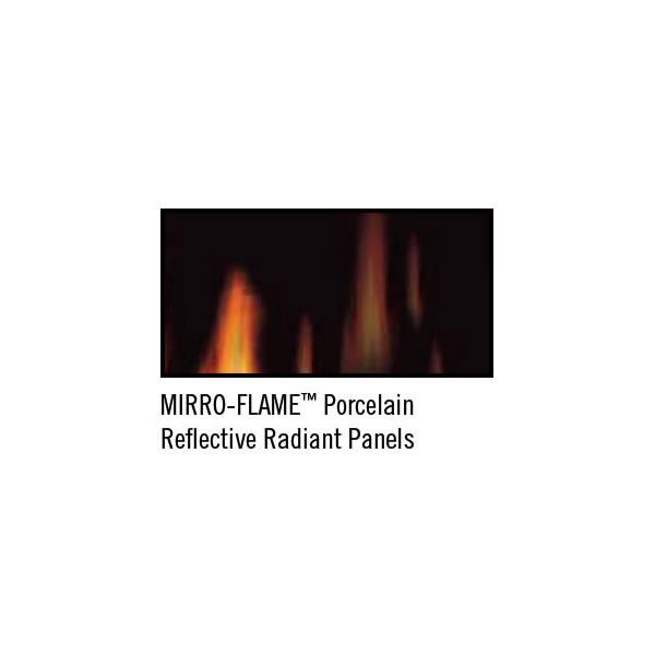 PRP25 Porcelain Reflective Radiant Panels, Rear & Sides